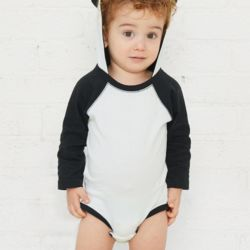 Fine Jersey Infant Character Hooded Long Sleeve Bodysuit with Ears Thumbnail